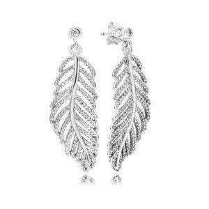 """Brand NEW PANDORA """"Light Like a Feather"""" Earrings"""